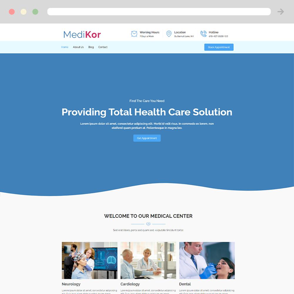 doctor website example 1